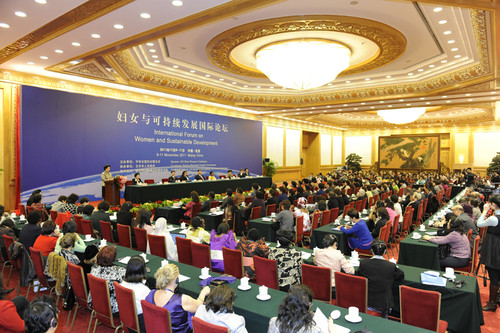 "Dr. Bozesan at Beijing ""International Forum on Women and Sustainable Development Goals"""
