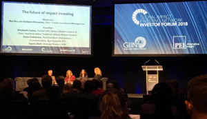 Only women on stage at the GIIN Investor Forum